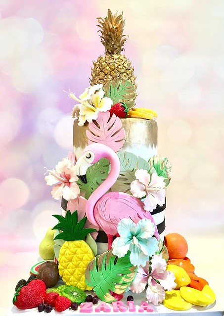 Flamingoes and Fruits by Nikita Shamdasani from Tiers Of Joy
