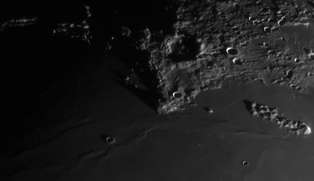 Moon - Sinus Iridum, Promontorium Laplace, Maupertuis and Montes Recti