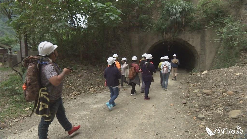 十八羅漢山日治時期完成的隧道。