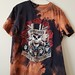 Splatter Bleached and Shredded Guns N Roses T Shirt Large