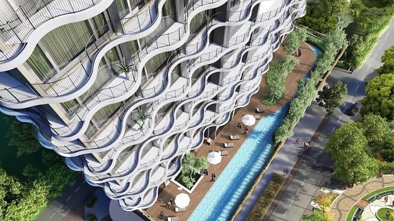 Thiết kế của dự án căn hộ Waterina Suites