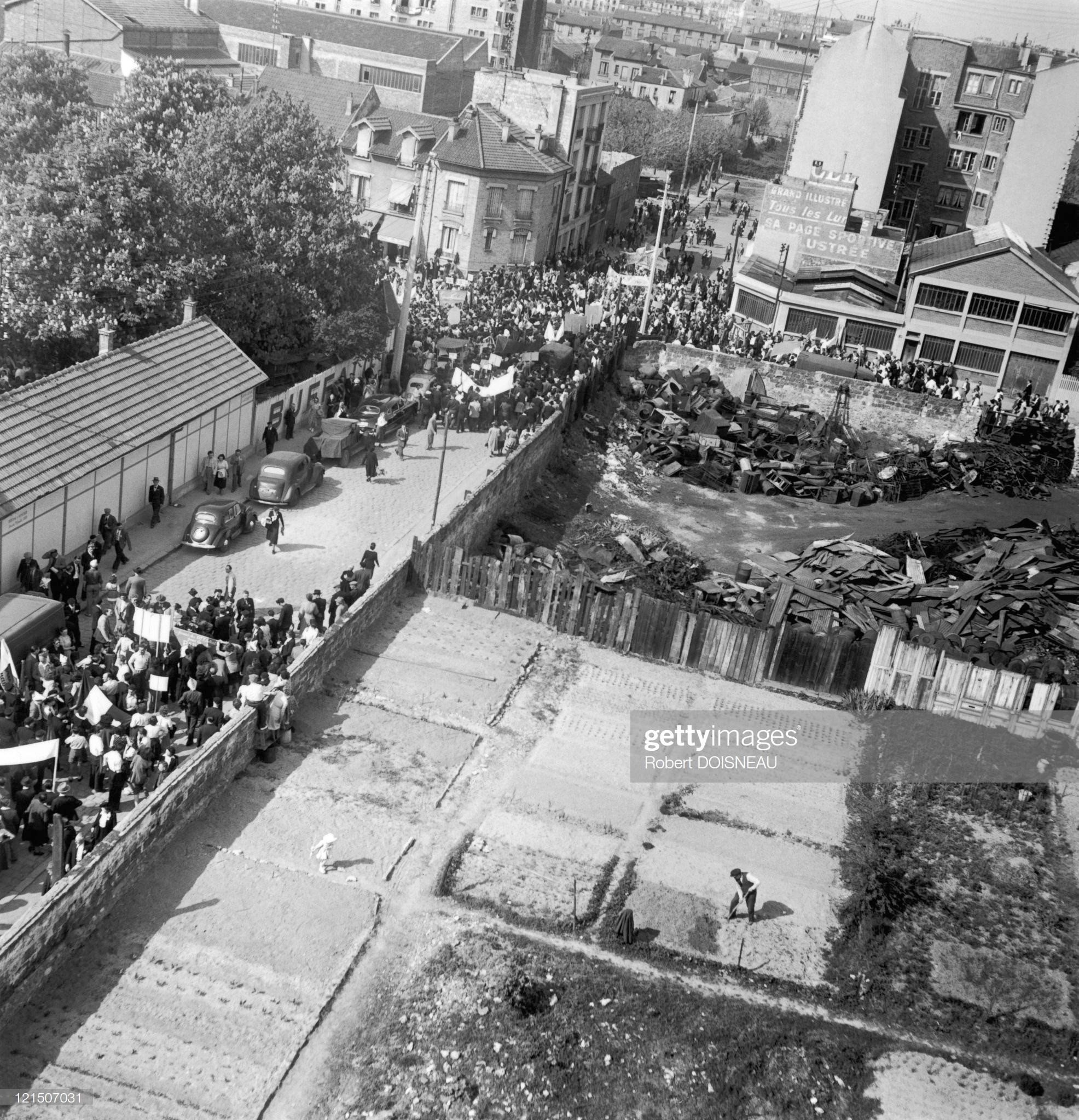 1949. Демонстрация за мир, Монруж. Февраль