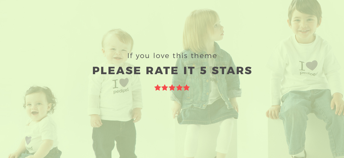 rate this theme 5 stars - Leo Bibomart Prestashop theme for Baby and Kid Store