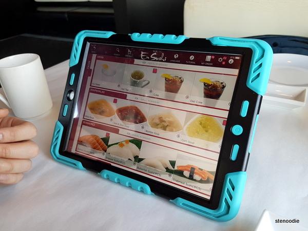 En Sushi iPad ordering