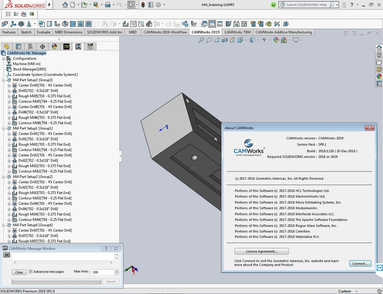 CAMWorks 2019 SP0.1 for solidworks 2012-2019 x64 full license