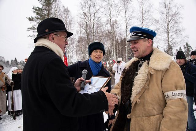 Kehra lahingu mälestussamba avamine 6. jaanuaril 2019