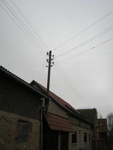 Alter Strommasten 220 V in Gorsleben