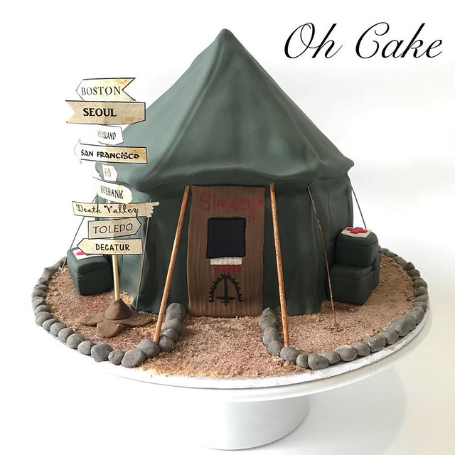 MASH Theme Cake by Oh Cake