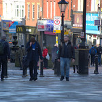 People on Friargate, Preston
