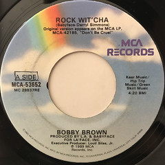 BOBBY BROWN:ROCK WIT' CHA(LABEL SIDE-A)