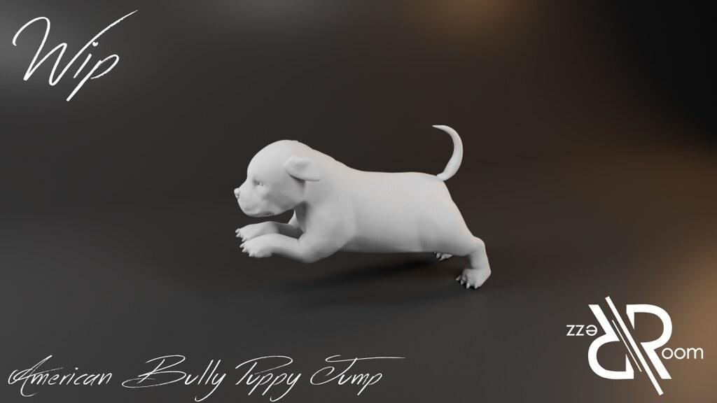 American Bully Puppy Jump
