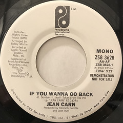 JEAN CARN:IF YOU WANNA GO BACK(LABEL SIDE-B)
