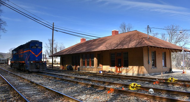 Old Pittsburg & Shawmut Railroad Station @ Kittanning