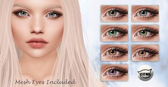 ::MD:: Luna Catwa Eye Appliers + Mesh Eyes (unrigged)