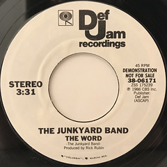 THE JUNKYARD BAND:THE WORD(LABEL SIDE-A)