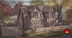Trompe Loeil - Bailey A-Frame Cottage & Wicker Couch and Chair Set for Uber March