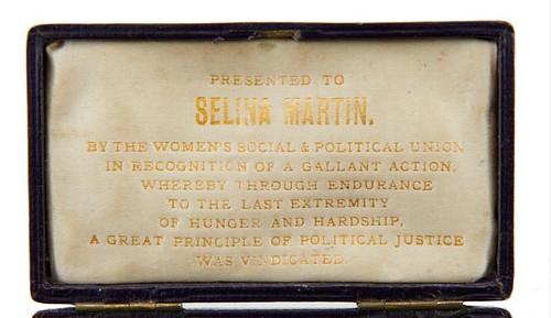 Selina Martin suffragette Hunger Strike medal case