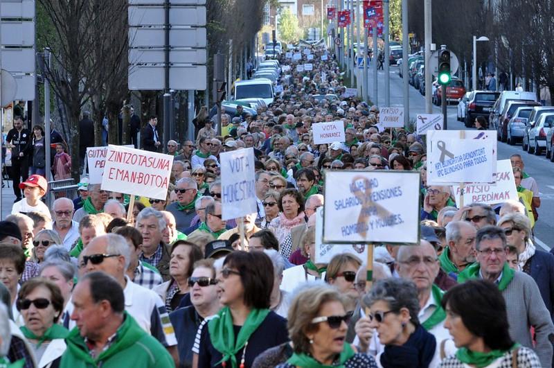 Momento de la Manifestación (Foto: bidasoa.hitza.eus)