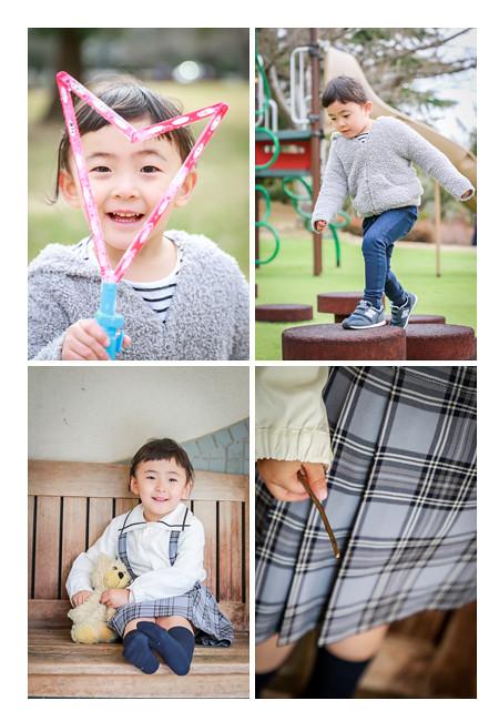 幼稚園入園記念写真のロケーション撮影