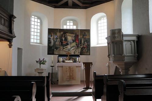Kirche Diemitz, Altaraufsatz Bernd Baumgart, 1998