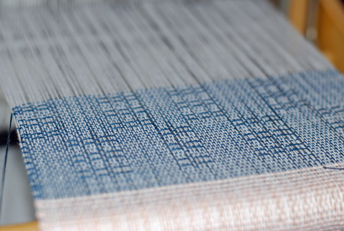 Handweaving Swedish lace 2/8 cotton sampler on Louet Erica table loom by irieknit
