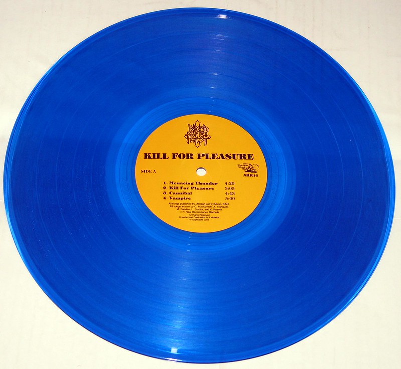 Blood Feast Kill for Pleasure coloured blue vinyl