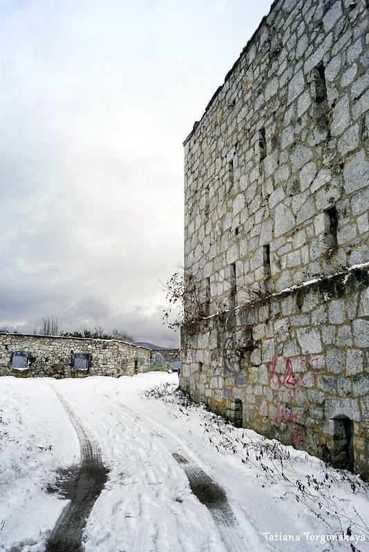 Стена крепости Зворника