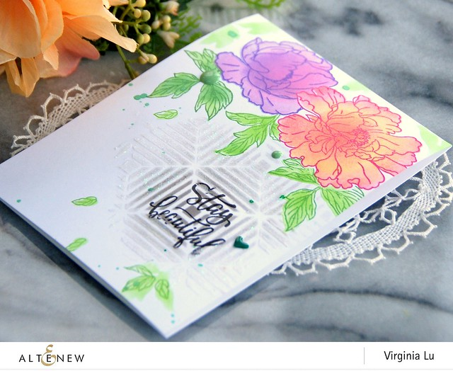 Altenew-BeautifulPeonyStampStencil-Virginia#3