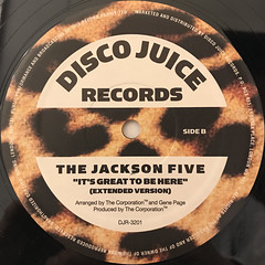 THE JACKSON 5:IT'S GREAT TO BE HERE(LABEL SIDE-B)