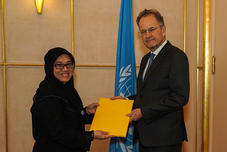 NEW PERMANENT REPRESENTATIVE OF BRUNEI DARUSSALAM PRESENTS CREDENTIALS TO THE DIRECTOR-GENERAL OF THE UNITED NATIONS OFFICE AT GENEVA