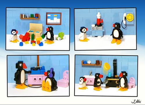 An ordinary day for LEGO Pingu
