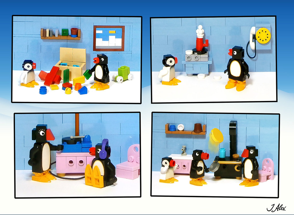An ordinary day for LEGO Pingu