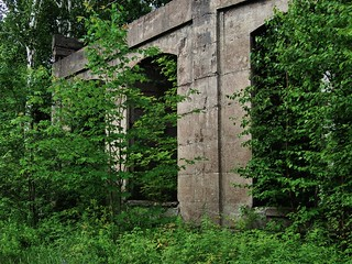 Ruins of WWII Cordite explosives munitions factory - Depot Harbour, Parry Island First Nation, Ontario