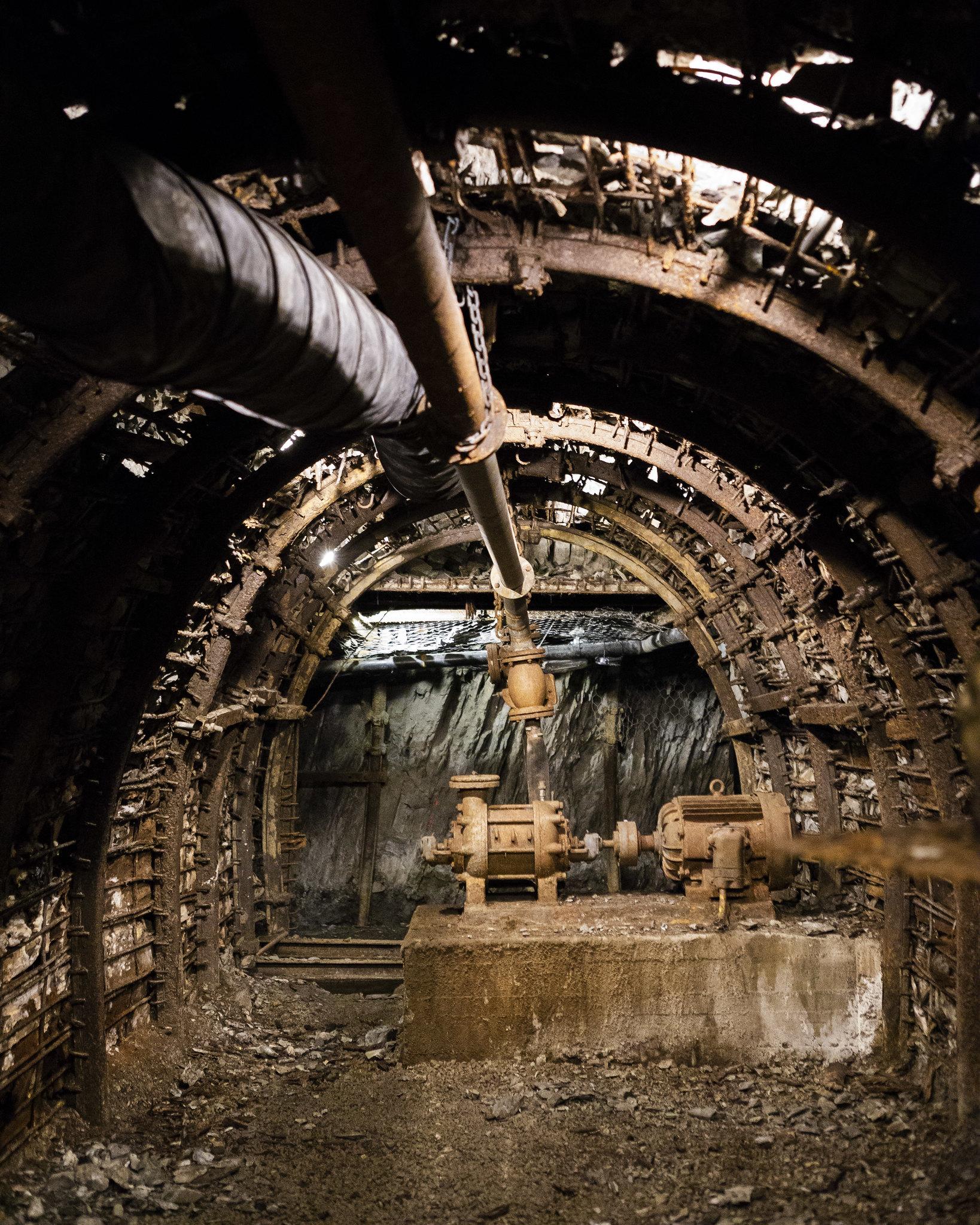 En la mina