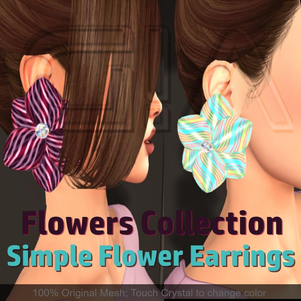 Simple Flower Earrings Vendor