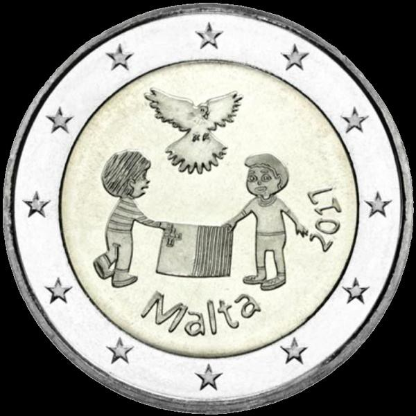 2 Euro Malta 2017, Mier