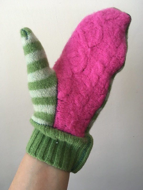Craft Fail:  Tova Mittens from Fulled Sweaters