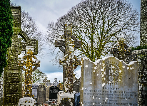 High Crosses at Mainistir Bhuithe Monasterboice - Monastery of Buithe - County Louth Ireland