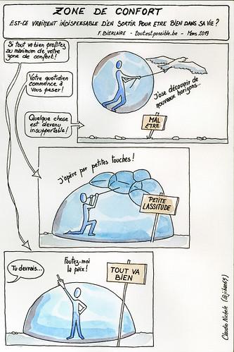 Sketchnotes La zone de confort