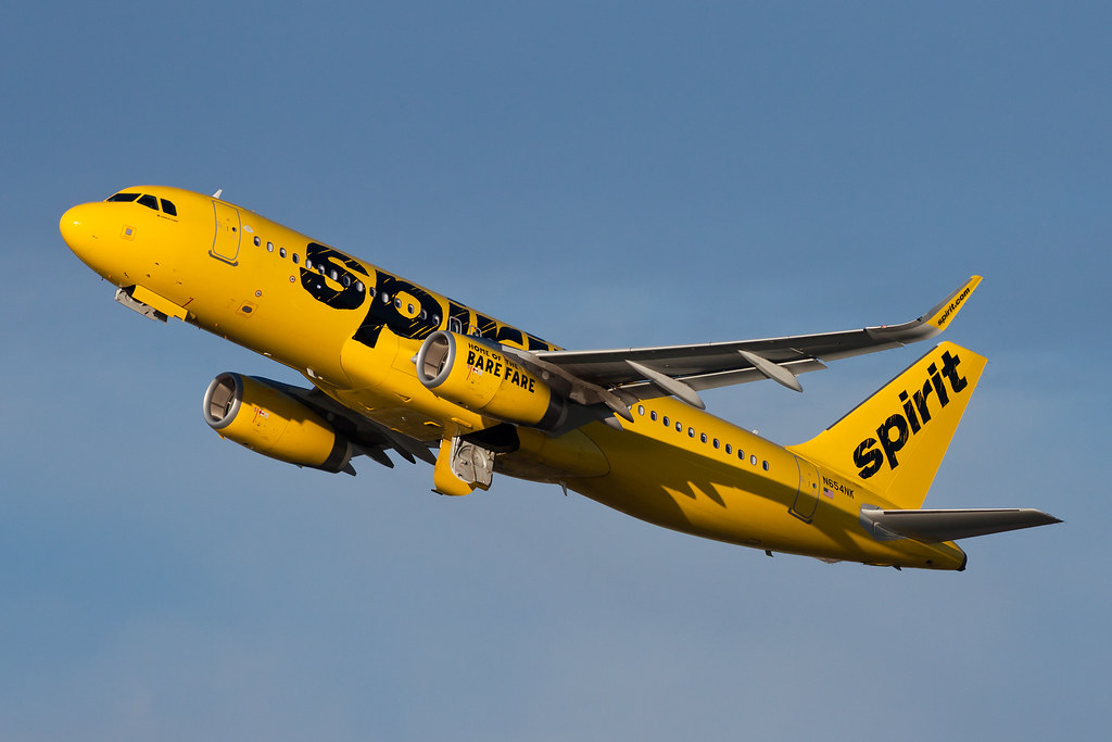 Spirit Airlines Airbus A320 N654NK