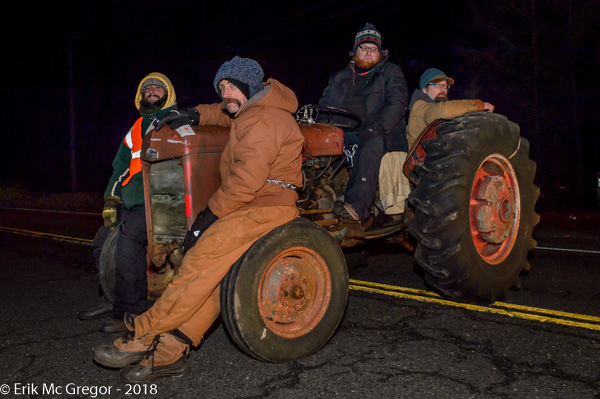 Four arrests at Cricket Valley construction tractor blockade