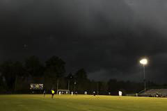 dangerous storm approaching clouds soccer field