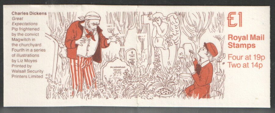 Great Britain - Stanley Gibbons #FH16 (1988) Charles Dickens booklet set featuring 'Great Expectations'