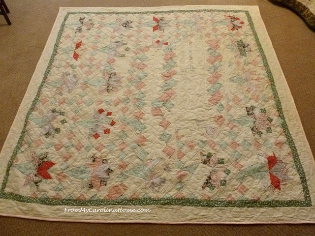 Extreme Damage Quilt Repair at FromMyCarolinaHome.com