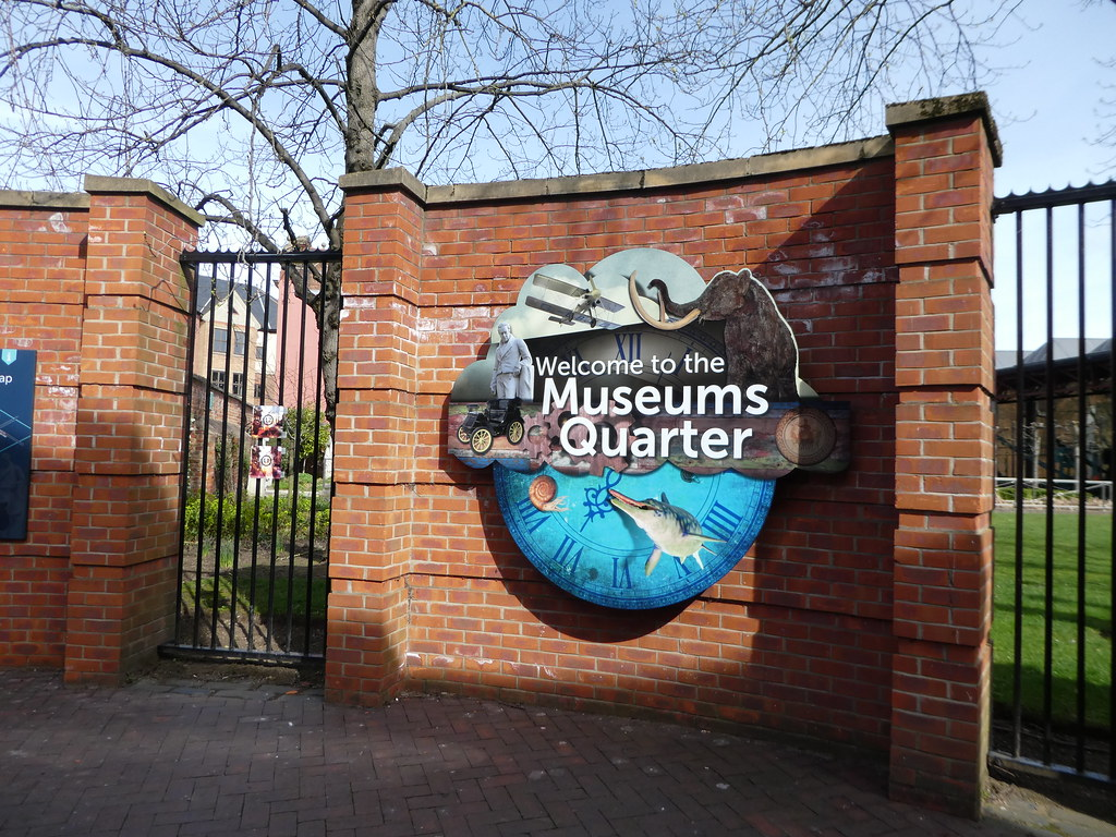 Entrance gates to Hull's Museum Quarter