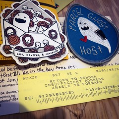 Just got a parcel from @thimblewinder ! Ironically at the same time I WAS visited by the Parcel Ghost! :ghost: