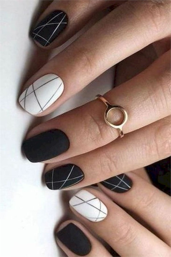 30+ Majestic Short Nail Art Designs Ideas 2019 #nail_art_designs #winter_nails #short_nails