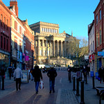 Looking up Friargate in Preston