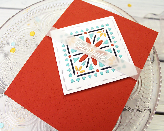 LizzieJones_PapertreyInk_January2019_CornerAdornerJanuary_ShapeShiftersSquare_Celebrate!Card2