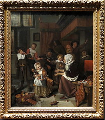 JAN STEEN - LA FIESTA DE SAN NICOLAS - RIJKSMUSEUM